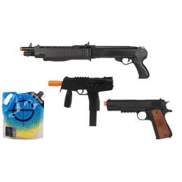 Airsoft Combo: KMP Pistol + WELL Pistol + HFC Shotgun + BBs
