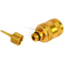 PREMIUM YELLOW Airsoft SAPIEN ARMS Full Metal Propane Adaptor