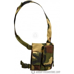 AMA 600D Rugged 6x Magazine Pouch Tactical Chest Rig - WOODLAND CAMO