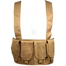 AMA 1000D Rugged 6x Magazine Pouch Tactical Chest Rig - TAN