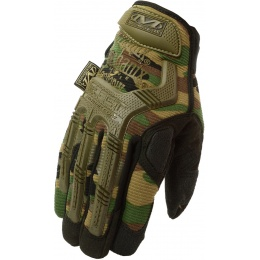 Mechanix Airsoft Large M-Pact Gloves w/ Knuckle Protection - WOODLAND