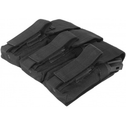 Condor Outdoor Tactical MOLLE Triple AK Mag Kangaroo Pouch - BLACK