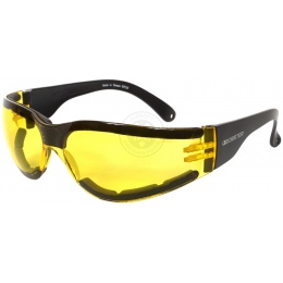 Bobster Shield III Shooting Glasses ANSI Z87 Rated - YELLOW LENS