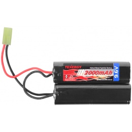 Tenergy 9.6v 2000mAh NiMH NUNCHUCK Butterfly Airsoft AEG Battery