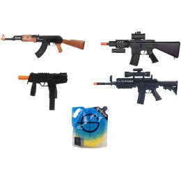 DE M4 AEG + Spring M4 RIS + Tactical KMP + AK47 + 5K 0.12 BBs