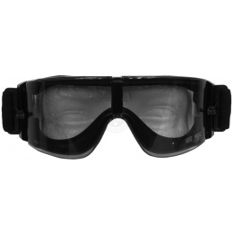 Save Phace Airsoft Eye Protection Grunt Clear Lens Goggles - BLACK