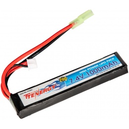Tenergy 7.4V 1000mAh LiPo Airsoft Buffer Tube Stick Type Battery (No. 31597)