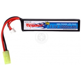 Tenergy 11.1V 1000mAh LiPo Airsoft AEG Buffer Tube Stick Type Battery