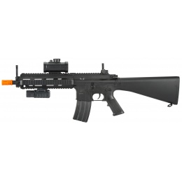DE SPC-614 RIS Electric AEG Rifle w/ Tactical Flashlight and Dot Scope
