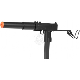 DE M-10 Mac11 Airsoft AEG Submachine Gun w/ Mock Suppressor