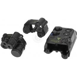 Lancer Tactical 5KU AN/PEQ-16 Battery Box Case RIS Mount w/ Spacer - BLACK