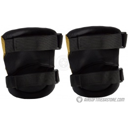 G-Force Outdoor Tactical Knee Pads w/ Nonslip Rubber Cap - TAN