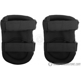 G-Force Outdoor Tactical Knee Pads w/ Nonslip Rubber Cap - BLACK