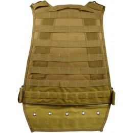 G-Force Tactical Compact Plate Carrier w/ MOLLE Webbing - COYOTE BROWN