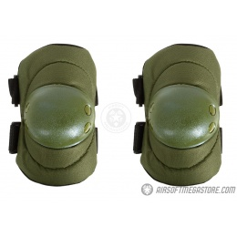 G-Force Outdoor Tactical Elbow Pads w/ Nonslip Rubber Cap - OLIVE DRAB