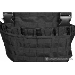 G-Force Airsoft MOLLE Chest Rig - w/ 6 Mag Pouches - BLACK