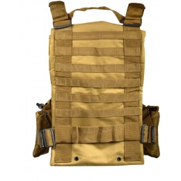 G-Force Warrior MOLLE Chest Rig w/ 6 Mag Pouches - COYOTE BROWN