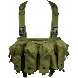 G-Force Urban Assault 6-Pocket Chest Rig for AK-Style Magazines - OD