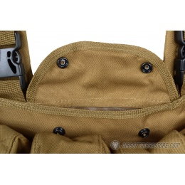 G-Force Airsoft AK-Style Magazine 6-Pocket Chest Rig - COYOTE BROWN