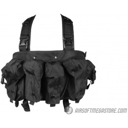 G-Force Urban Assault 6-Pocket Chest Rig for AK Magazines - BLACK