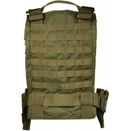 G-Force 1000D Construction MOLLE 6x Pouch Airsoft Chest Rig - OD