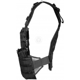 G-Force Warrior MOLLE 1000D Chest Rig - w/ 6 Magazine Pouches - BLACK