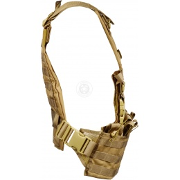 G-Force Warrior 1000D MOLLE Chest Rig - w/ 6 Mag Pouches - COYOTE