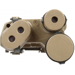 Lancer Tactical 5KU AN/PEQ-16 Battery Box Case RIS Mount - FLAT DARK EARTH