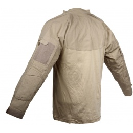 Rothco Military Combat Shirt w/ Reinforced Elbows - DESERT SAND