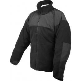 Rothco ECWCS Polar Fleece Jacket w/ Reinforced Elbows - BLACK