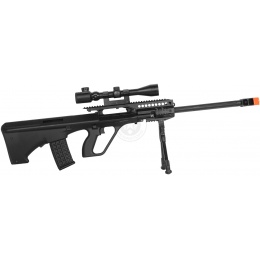 JG UA-5G Bullpup Airsoft AEG Sniper Rifle w/ Magnified Scope