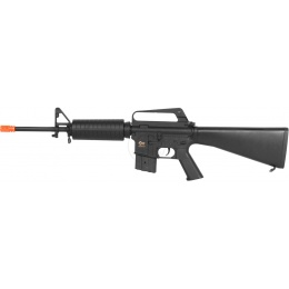 JG Airsoft Full Metal Gearbox M16A1 Carbine AEG w/ Fixed Full Stock
