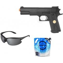 Stocking Stuffer: DeltaForce M1911 Pistol w/ Glasses + 0.20g BBs