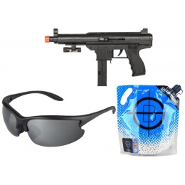AMA Airsoft Spring SMG w/ Shooting Glasses and 0.20g BBs