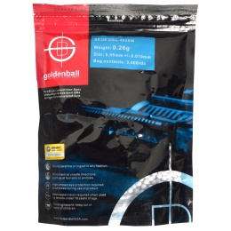 0.26G GoldenBall ProSlick Seamless Airsoft BBs - 3000rd BAG