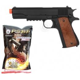 Stocking Stuffer: WellFire M1911-A1 Pistol + 1K Bag of 0.25g BBs