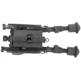 DBoys Full Metal Heavy Duty Spring-Loaded Universal Bipod for Airsoft Rifles - Adjustable & Folding