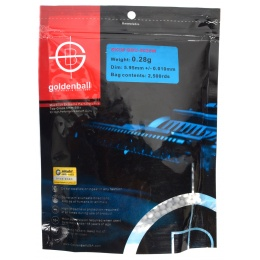 0.28g GoldenBall MaxSlick Seamless Airsoft BBs - 2500rd BAG
