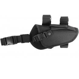 AMA Airsoft 1000D Right Handed Pistol Drop Leg Holster - BLACK