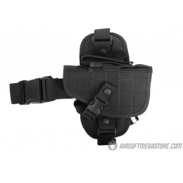 G-Force 1000D Drop Leg Holster w/ Mesh Padding - BLACK - RIGHT HANDED