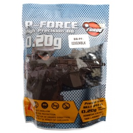 0.20g PFORCE JDM-Spec Seamless Airsoft BBs - 5000rd Bag - BLACK