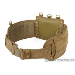 NcStar Low-Profile MOLLE Battle Belt w/ Internal QD Combat Belt - TAN