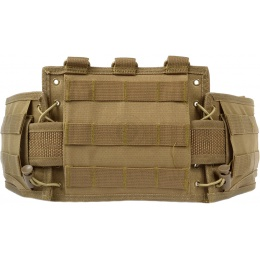 NcStar Low-Profile MOLLE Battle Belt w/ Internal QD Combat Belt - TAN