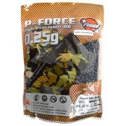 0.25g PFORCE JDM-Spec Seamless Airsoft BBs - 4000rd Bag - BLACK