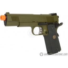 WE Tech M1911 MEU Tanio Koba Airsoft Gas Blowback Pistol - OD
