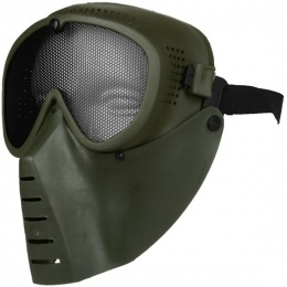 SRC Full-Face Tactical Sansei Mesh Face Mask - OD GREEN