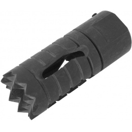 JBU Airsoft Full Metal Alloy Armored Flash Hider - 14mm CCW Threading