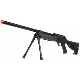 WellFire MB13B APS SR-2 Metal Sniper Rifle w/ Metal Bipod - BLACK