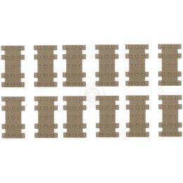 JBU Set of 12 RIS Rail Cover Panels - TAN