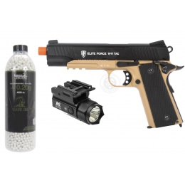 Elite Force 1911 CO2 Blowback Pistol with BBs and Light Attachment